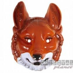 Maschera Plastica Volpe Rossa