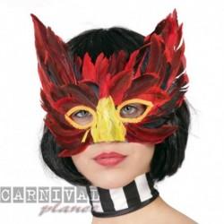 Maschera Tessuto Piume Color