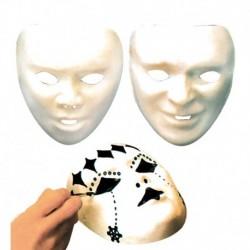 Maschera Plastica Viso Bianca