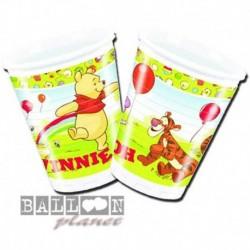 10 Bicchieri Carta Winnie Pooh 200 ml