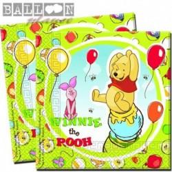 20 Tovaglioli Carta Winnie Pooh 33x33 cm