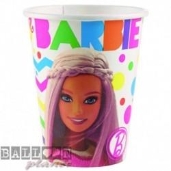 8 Bicchieri Carta Barbie 266 ml