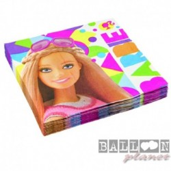 20 Tovaglioli Carta Barbie 33x33 cm