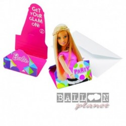 8 Invitie Buste Barbie