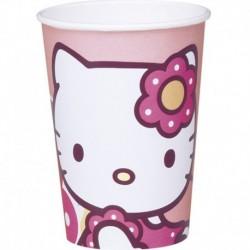 10 Bicchieri Carta Hello Kitty 200 ml