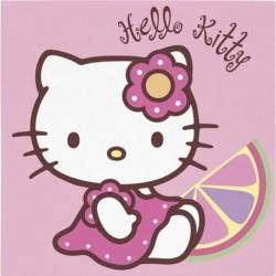 20 Tovaglioli Carta Hello Kitty 33x33 cm