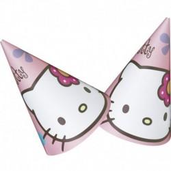 6 Cappellini Carta Hello Kitty 12x16 cm
