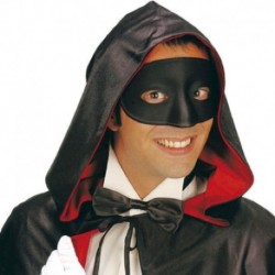 Maschera Plastica Domino Nera