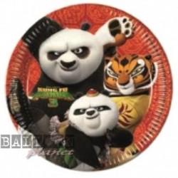 8 Piatti Tondi Carta Kung Fu Panda 23 cm