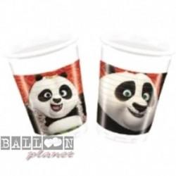 8 Bicchieri Plastica Kung Fu Panda 200 ml