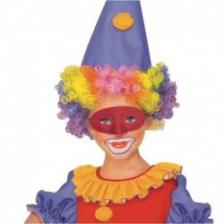 Maschera Plastica Domino Rossa