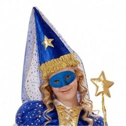 Maschera Plastica Domino Blu
