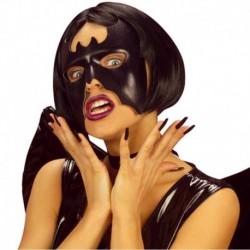 Maschera Similpelle Pipistrello Nero