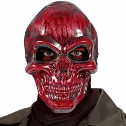 Maschera Plastica Teschio Rosso