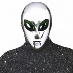 Maschera Plastica Alieno Argento
