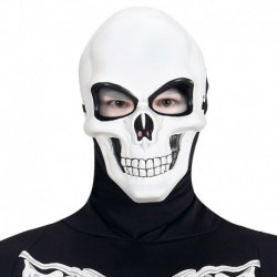 Maschera Plastica Teschio Bianco