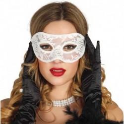 Maschera Pizzo Domino White