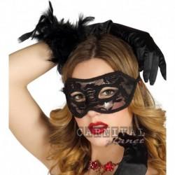 Maschera Pizzo Domino Black