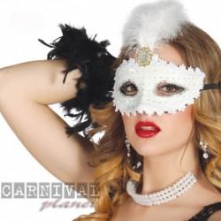 Maschera Tessuto Luxury White