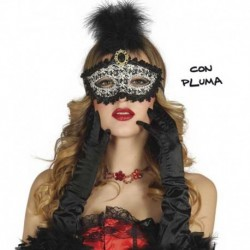Maschera Tessuto Luxury Black