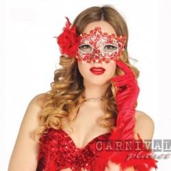 Maschera Tessuto Luxury Red
