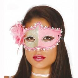 Maschera Tessuto Luxury Rose