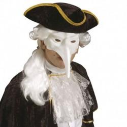 Maschera Plastica Veneziana Bianca