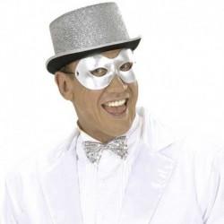 Maschera Tessuto Fidelio Argento