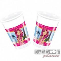 8 Bicchieri Plastica Mia & Me 200 ml