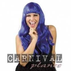 Parrucca Lunga Blu