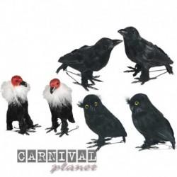 Decorazioni Avvoltoio Corvo Gufo 12 cm