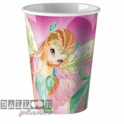 8 Bicchieri Plastica Winx 200 ml