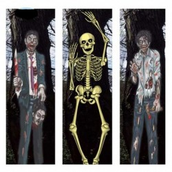 Fondale Porta Scheletri Zombie
