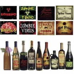 8 Etichette Bottiglie Horror