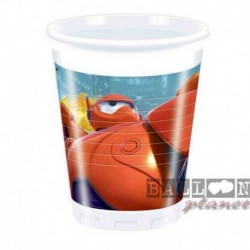 8 Bicchieri Plastica Big Hero 200 ml