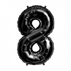 Pallone Numero 8 Nero 90 cm
