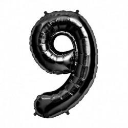 Pallone Numero 9 Nero 90 cm
