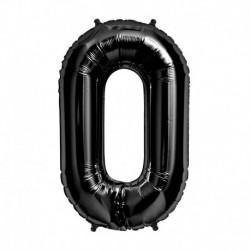 Pallone Numero 0 Nero 90 cm