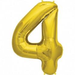 Pallone Numero 4 Oro 90 cm