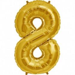Pallone Numero 8 Oro 90 cm