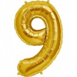 Pallone Numero 9 Oro 90 cm