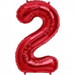 Pallone Numero 2 Rosso 90 cm