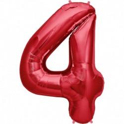 Pallone Numero 4 Rosso 90 cm