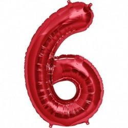 Pallone Numero 6 Rosso 90 cm