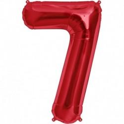 Pallone Numero 7 Rosso 90 cm