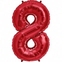 Pallone Numero 8 Rosso 90 cm