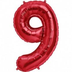 Pallone Numero 9 Rosso 90 cm