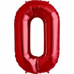Pallone Numero 0 Rosso 90 cm