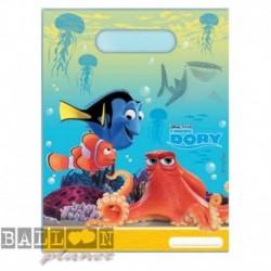 6 Loot Bags Dory e Nemo 18x22 cm