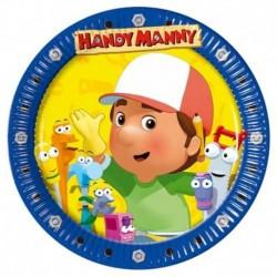 10 Piatti Tondi Carta Handy Manny 23 cm